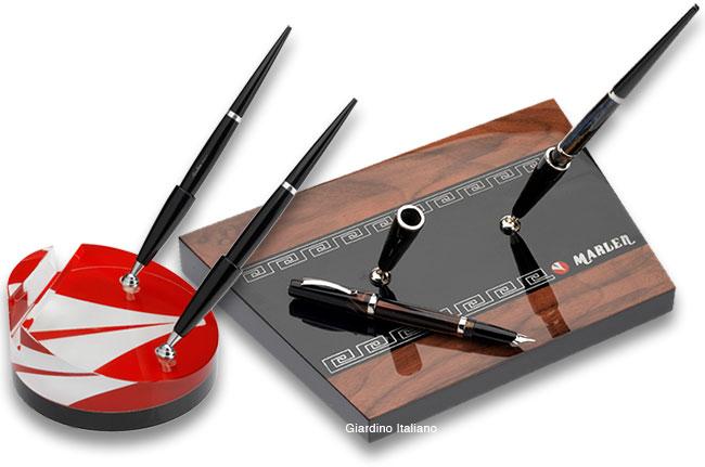 Set Ufficio Legno : Set da scrivania marlen in legno o cristallo