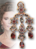 Elisa garnet earrings