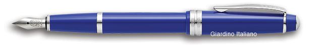 Penna stilografica in resina pennino fine colore: blu lucido Cross Bailey